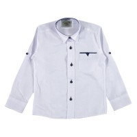 Рубашка для мальчиков, цвет черно-белый|1235379