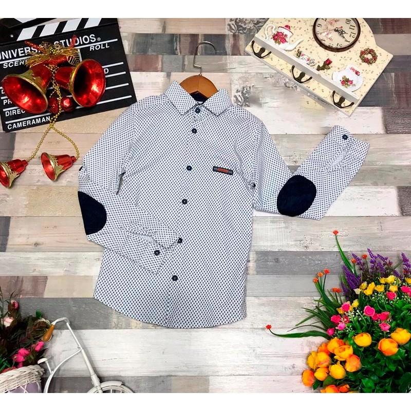 Рубашка для мальчиков, цвет-белый |12858