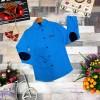 Рубашка для мальчиков, цвет-голубой |12858