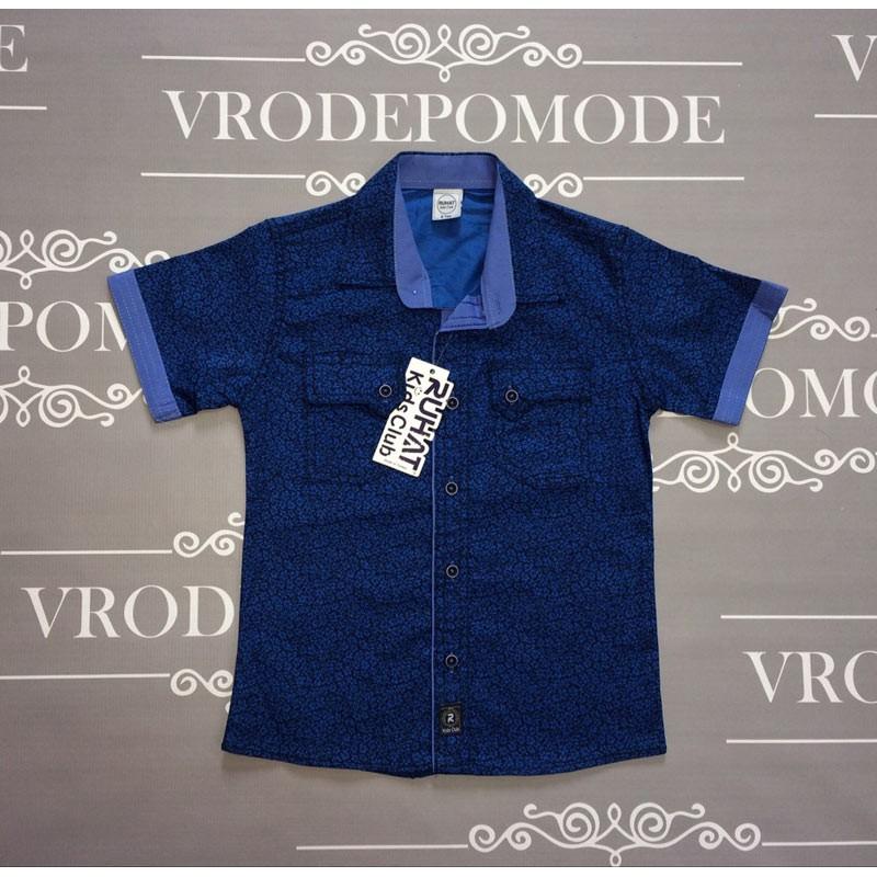 Рубашка для мальчиков, цвет - синий|13152