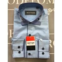 Рубашка для мальчиков, цвет-голубой|19725