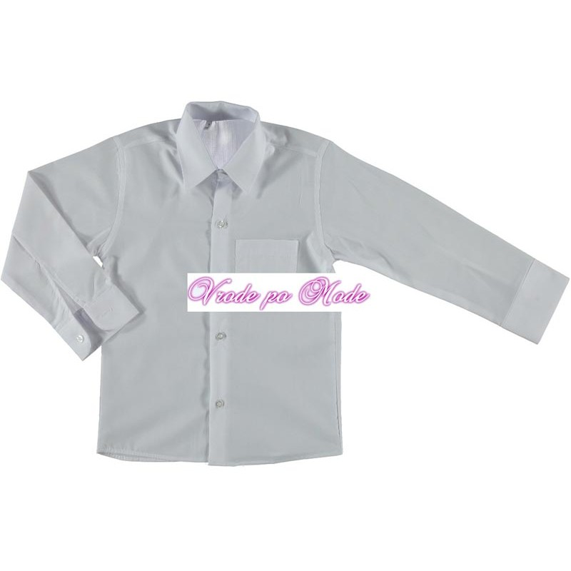 Рубашка для мальчиков от 4 до 10 лет Белая. 2789950