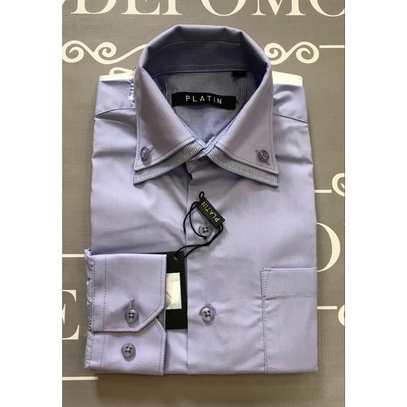 Рубашка для мальчиков, цвет-голубой |41616-2