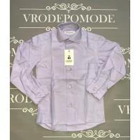 Рубашка для мальчиков, цвет-сиреневый|58794