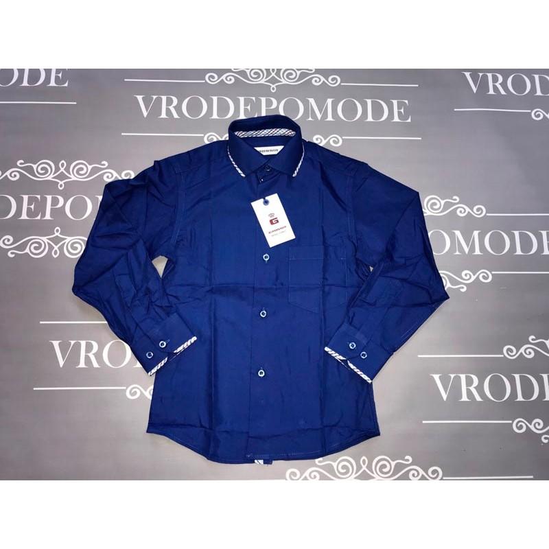 Рубашка для мальчиков, цвет-синий|58794