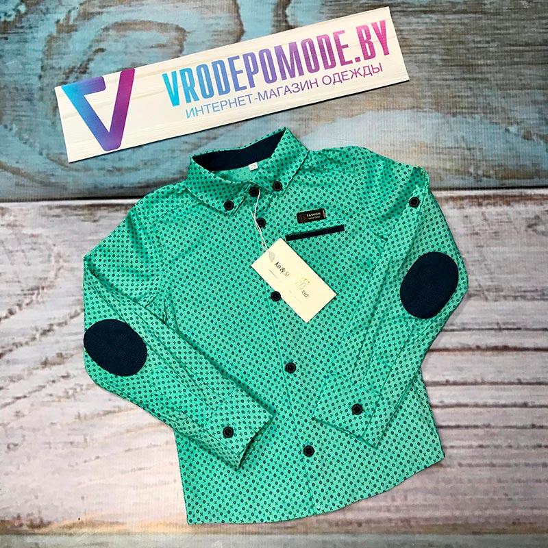 Детская рубашка для мальчиков, цвет-зеленый 65173