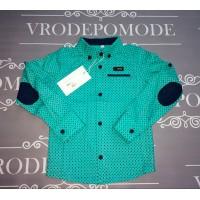 Детская рубашка для мальчиков, цвет-зеленый|65173
