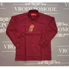 Рубашка для мальчиков, цвет-бордовый|75463