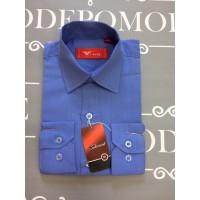 Рубашка для мальчиков, цвет-голубой|76484