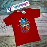 Футболка для мальчиков, цвет-красный 10233