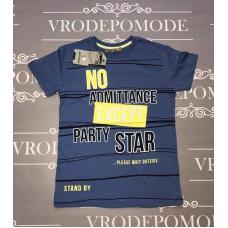 Детская футболка для мальчиков, цвет-синий|13406