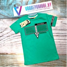 Детская футболка для мальчиков, цвет-зеленый|1369