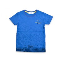 Футболка для мальчиков, цвет-синий|25321
