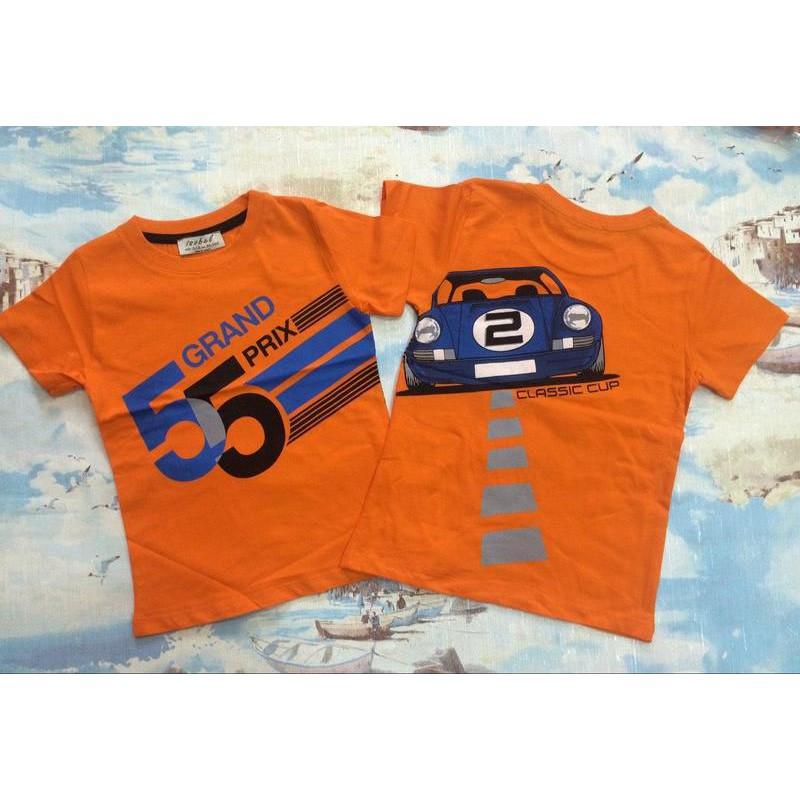 Футболка GRAND PRIX для мальчиков от 4 до 11 лет, цвет - оранжевый |54013