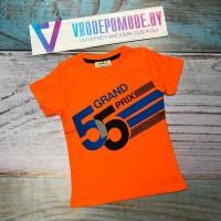 Футболка GRAND PRIX для мальчиков от 4 до 11 лет, цвет - оранжевый  54013