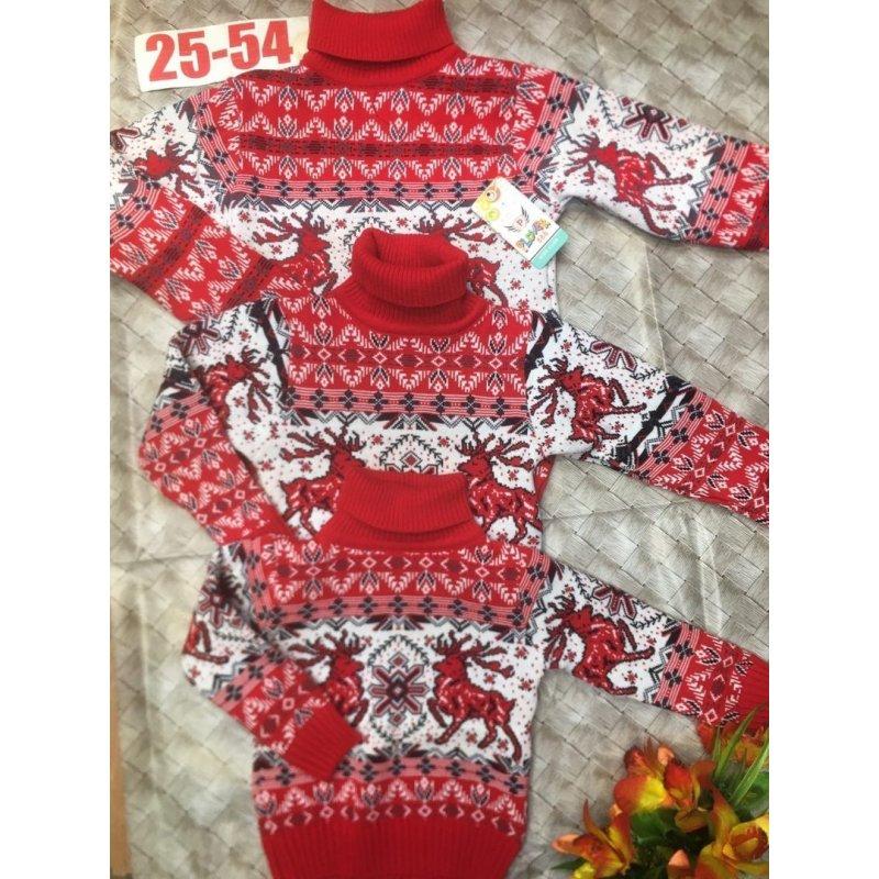 Тёплый новогодний свитер|Х11106