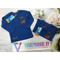 Кофта для мальчиков от 1 до 5 лет, цвет - синий |121
