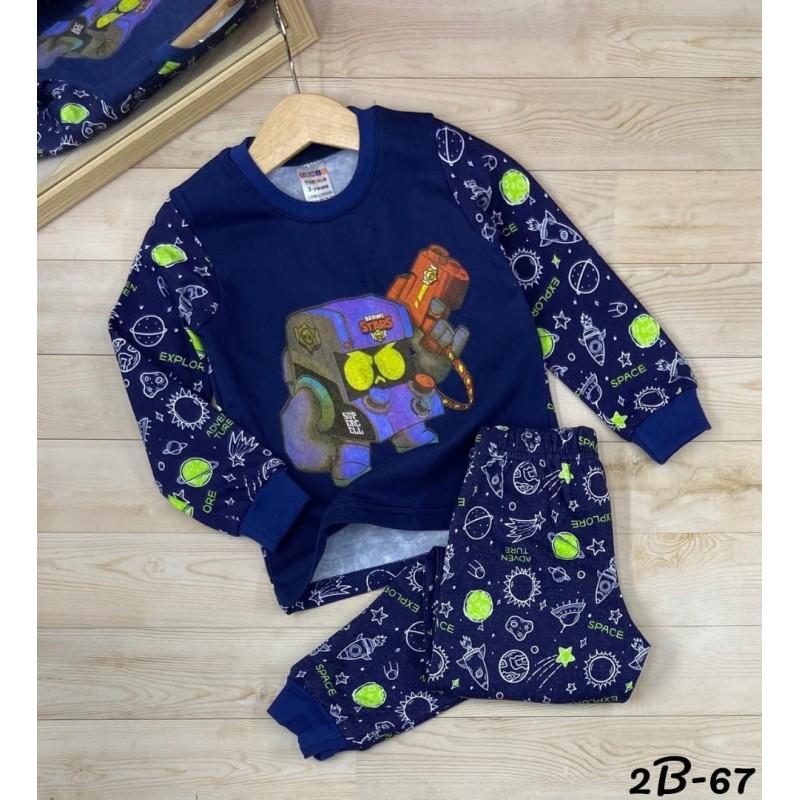 Теплые пижамы для мальчиков|Х09112-3