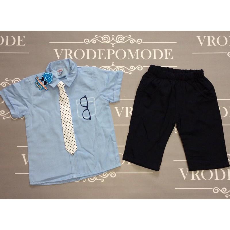 Костюм для мальчиков ,цвет-голубой|136581