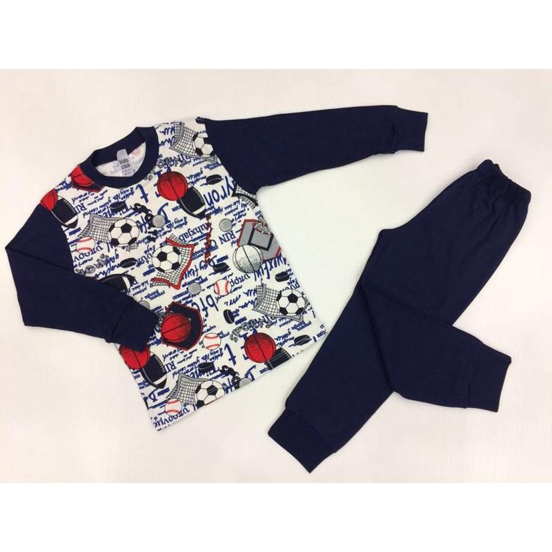 Пижама для мальчиков от 1 до 6 лет, цвет синий |191121