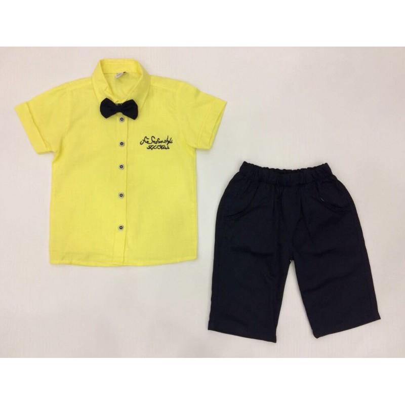 Костюм для мальчиков с бабочкой ,цвет-желтый 244575