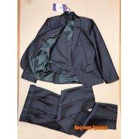 Классический костюм тройка, цвет-серый|25379