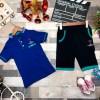 Футболка и шорты в комплекте, цвет-синий|4793