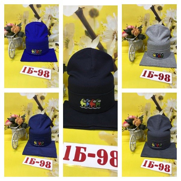 Комплект шапка + снуд.  Двойной трикотаж|X02122