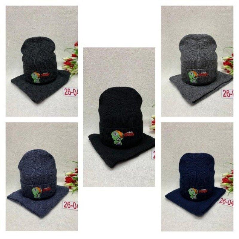 Комплект шапка и снуд с подкладкой на флисе X10253