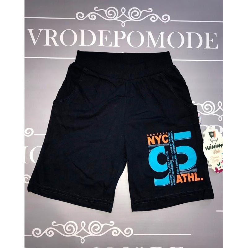 Детские шорты для мальчиков, цвет-синий|6518