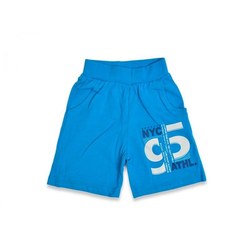 Детские шорты для мальчиков, цвет-голубой|6518
