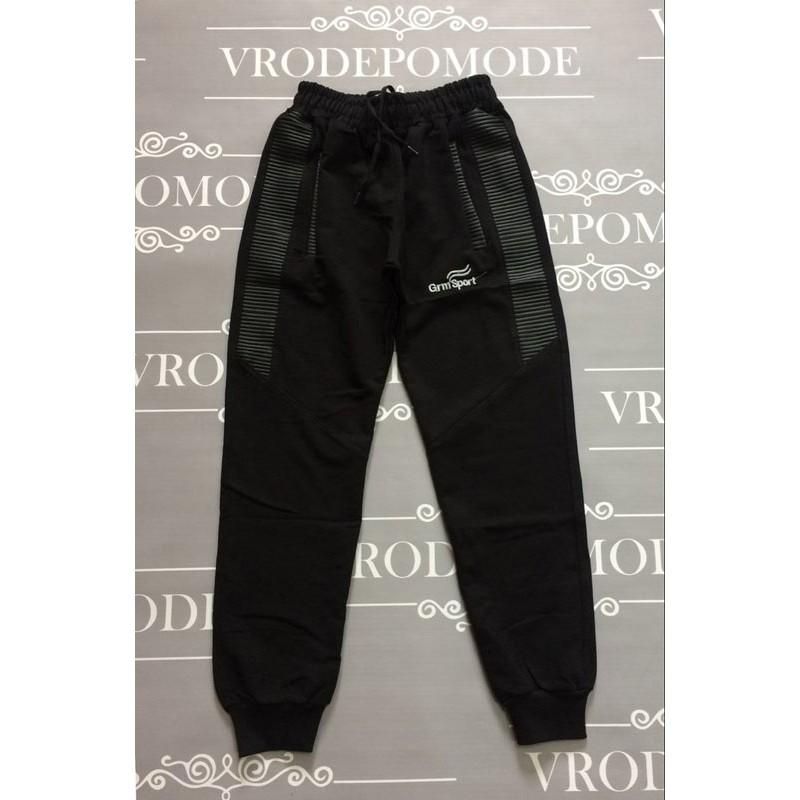 Спортивные штаны для мальчиков, цвет-черный |15809