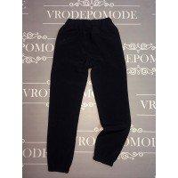Спортивные штаны для мальчиков, цвет-черный|16578