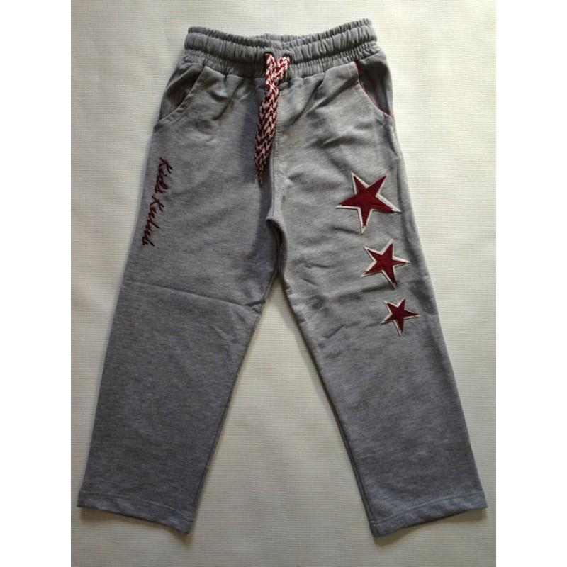Спортивные штаны для мальчиков от 5 до 8 лет, цвет - серый  20014