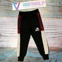 Спортивный штаны на флисе, цвет-черный|340921
