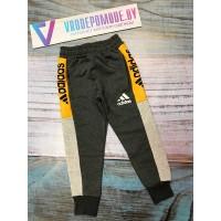 Спортивный штаны на флисе, цвет-серый|340921