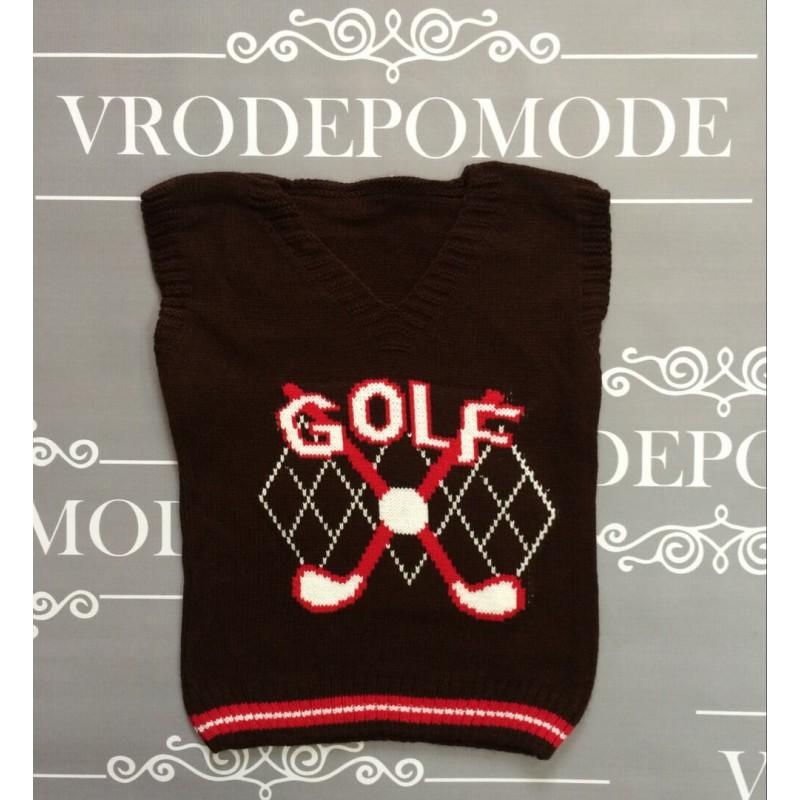 Жилетка для мальчиков Golf ,цвет коричневый  83901