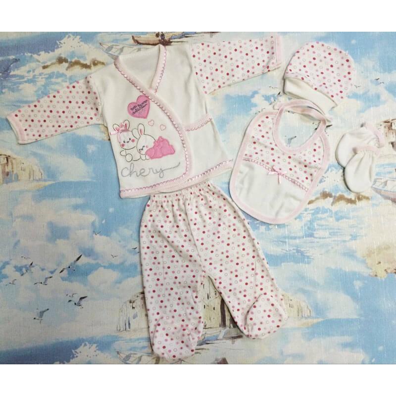 Костюм для новорожденных, цвет розовый|1208690