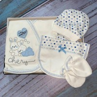 Комплект для новорожденных, цвет голубой |1208690