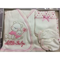 Комплект для новорожденных от 0 до 3 месяцев, цвет - розовый |1214668