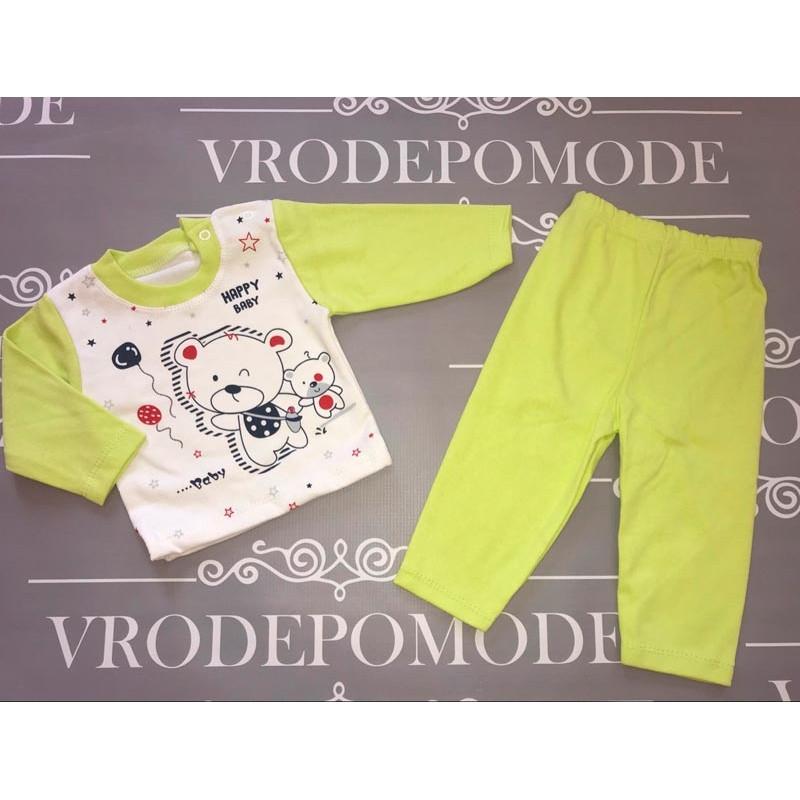 Костюм для новорожденных, цвет-салатовый |1236129