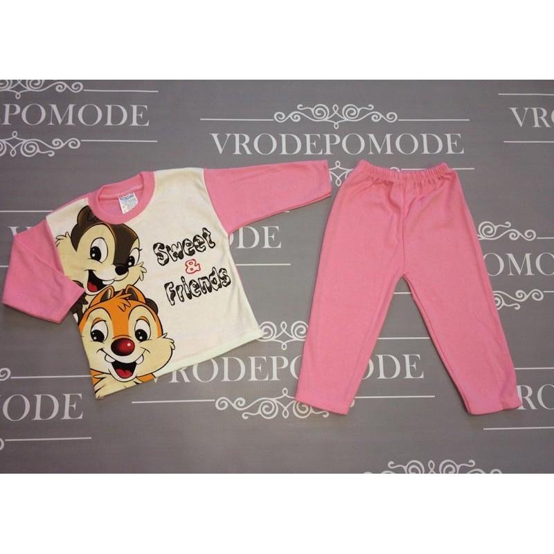 Костюм для новорожденных, цвет-розовый|1236767