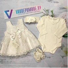 Крестильный набор для девочек, цвет-белый  1249030