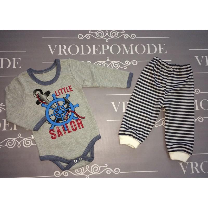 Детский костюм, цвет-серый 1253366