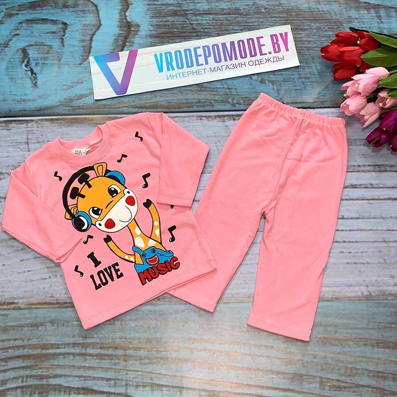 Детский костюм для девочек, цвет-розовый|1287481
