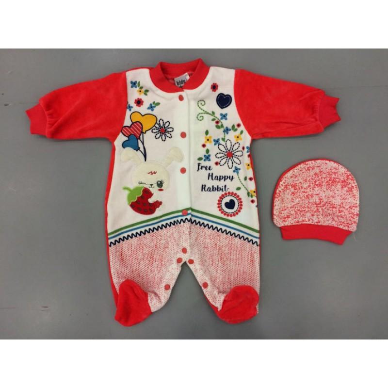 Вельветовый костюм для девочек от 6 до 12 месяцев, цвет-красный |16102
