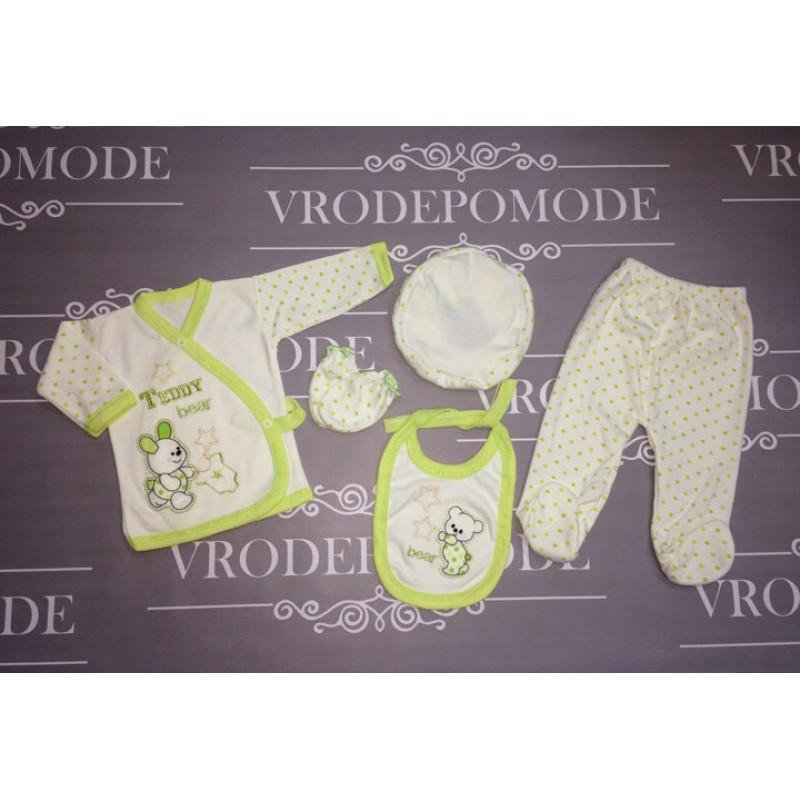 Комплект для новорожденных, цвет-салатовый |2754888