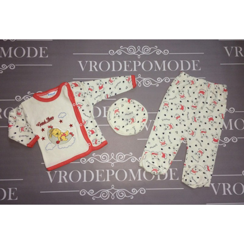 Комплект для новорожденных от 3 до 6 месяцев, цвет - красный |2768607