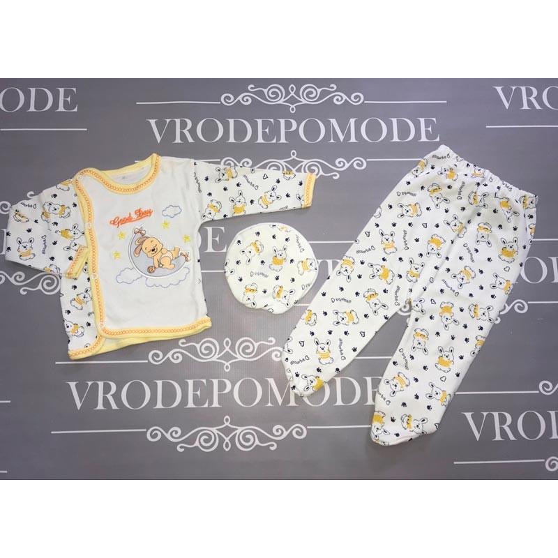 Комплект для новорожденных от 3 до 6 месяцев, цвет-желтый  2768607