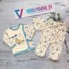 Комплект для новорожденных от 3 до 6 месяцев, цвет - голубой |2768607